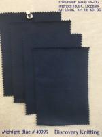 MIDNIGHT BLUE # 40999 Front to Back: Jersey 626, Interlock 7800, Loopbac 641 LB, 1x1 Rib 604