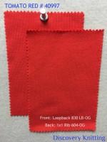 Tomato Red 40997 Front: Loopback 830 LB-OG Back: 1x1 Rib  604-OG
