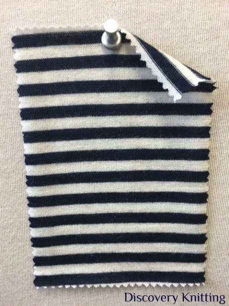 782 T S -W-NvyE MerIno Wool Stripe Jersey NAVY / ECRU