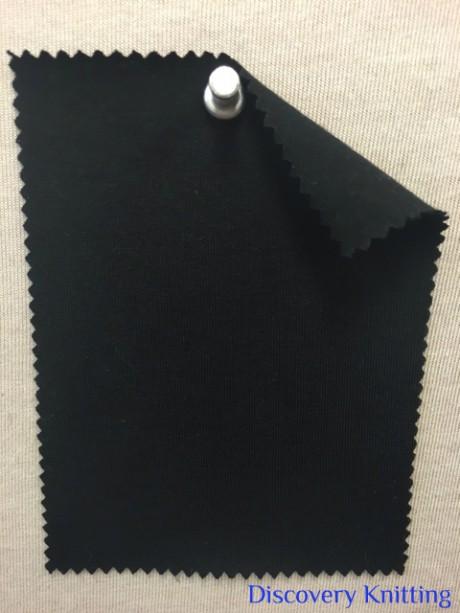 667-OGE-Blk ORGANIC Combed Cotton Lycra Jersey BLACK