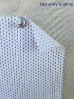 767 T-C-OP Optical White 100% Cotton Eyelet Mesh Knit