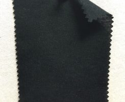 514 -MMH -Blk  Classic Micro Modal Cashmere Jersey  BLACK