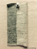 827 -CP Reversible Horizontal Herringbone Lt Vintage Grey /Nat BOTH SIDES