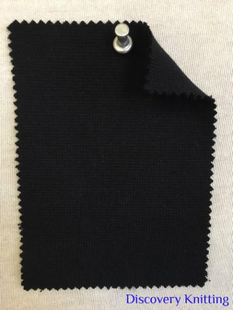 829 T -OGE -Blk  Organic Cotton Lycra 1x1 Rib BLACK