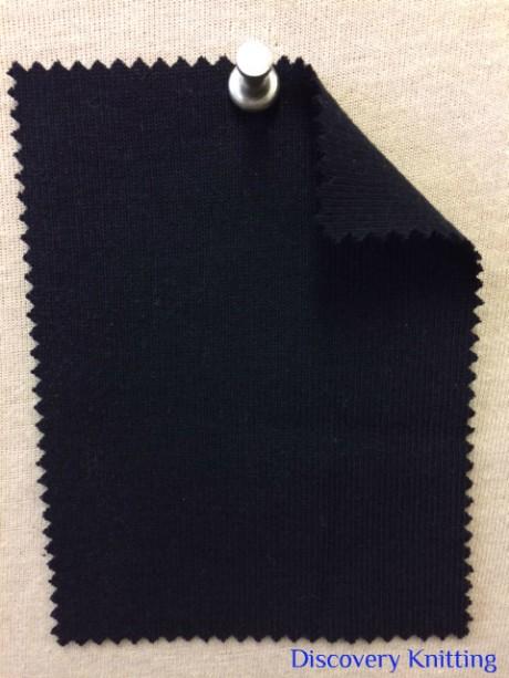 861 -OG -Navy # 43500 A  Organic Cotton 1x1 Rib