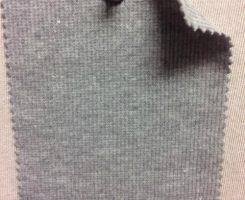7822 G-CPE  Lt Grey Melange 2x1 Rib Cotton Poly Lycra