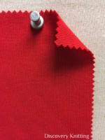 831 T-OG-Red39 TULIPANO RED # 39 Organic Cotton 1x1 Rib