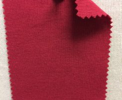831 T-OG-Red40  PRUGNA # 40  Organic Cotton 1x1 Rib