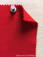 831 T-OG-Red44  ROSSO RED # 44  Organic Cotton 1x1 Rib