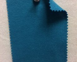 831 T-OG-Teal43  OTTANIO # 43  Organic Cotton 1x1 Rib