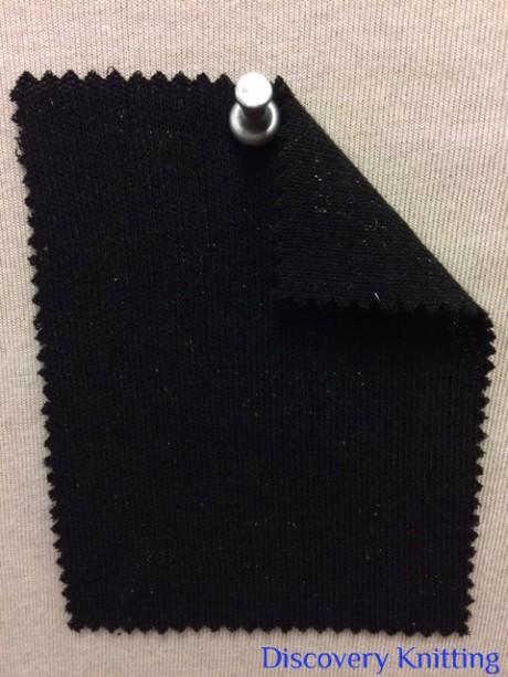 890-VPX-Blk INTERLOCK / Double Jersey BLACK w Silver Lurex