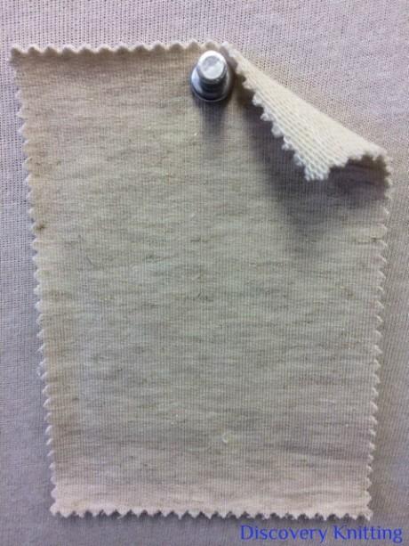 519 LB -VCXE  Beige Tweed Gold Lurex Loopback w Elastane /Ecru Loop
