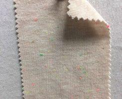 831-CVP Vintage Beige Neon Confetti 1x1 Rib