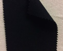 810-AVE-Blk 2x1 Low Pill Viscose Lycra Rib BLACK