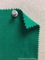 831 T-OG-Grn Organic Cotton 1x1 Rib EMERALD # VER 35