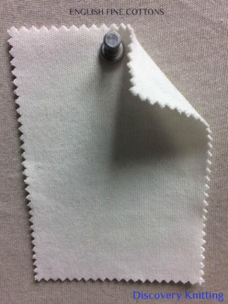 934 T-EFC English Fine Cottons SUPIMA INTERLOCK Raw White