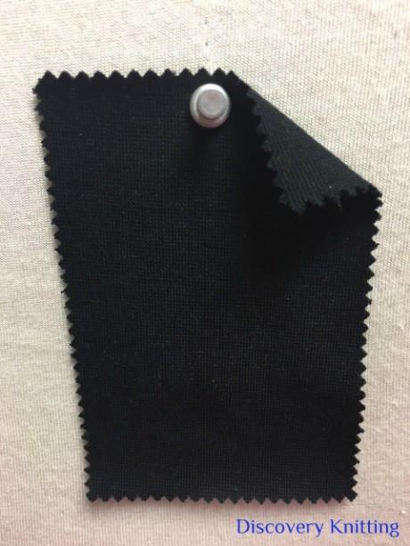 943-OGE Organic Cotton Lycra 1x1 Rib BLACK