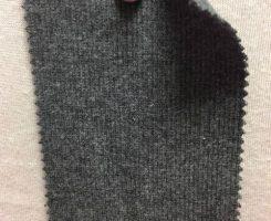 001 G-CE-CM8981  Cotton Lycra 2x1 Rib CHARCOAL MELANGE # 8981