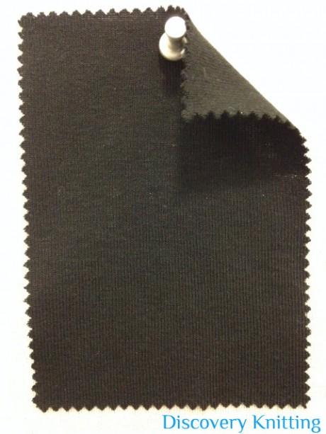 831 T-OG Organic Cotton 1x1 Rib BLACK
