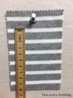 846 T S-C Stripe Heavy Interlock Tubular RULER CM