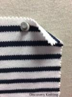 846 S-C Combed Cotton Heavy Stripe Interlock OPTICAL WHITE / NAVY