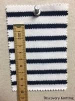 846 S-C Stripe Interlock Optical White/Navy w CM RULER