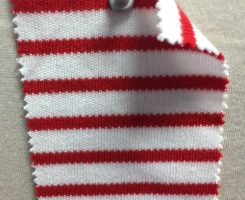 846 S-C Stripe Heavy Interlock OPTICAL WHITE /RED