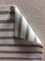 972 S-AVE Stripe jersey Viscose Lycra IVORY / GREY MELANGE