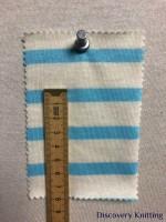 692 S-C  Cotton Breton Stripe Jersey Cream/Lt Blue CM RULER
