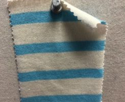 692 S-C  Cotton Breton Stripe Jersey CREAM / MAURITUS LT BLUE