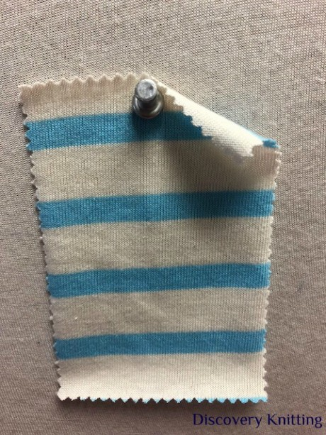 692 S-C  Cotton Breton Stripe Jersey CREAM / MAURITUS LT BLUE