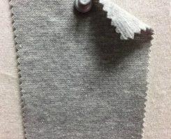 813 G-OGPE-10 Organic Cotton Lycra 1x1 Rib GREY MELANGE # 10
