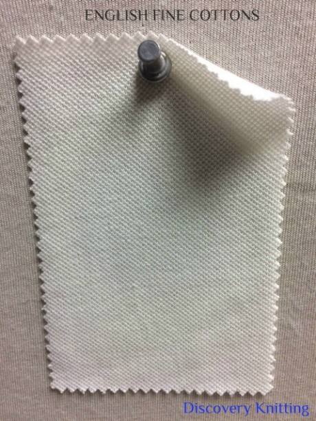 474-EFC English Fine Cottons PIQUE  RAW WHITE