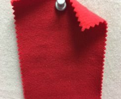 857 FT-OGP-Red Organic Cotton FLEECE  RED # VER 19
