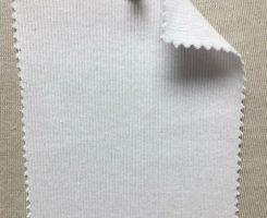 992 T-MOGE !x1 Rib Modal Organic Cotton Lycra LOW OPTICAL WHITE