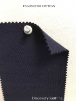 934-EFC-Navy English Fine Cottons SUPIMA COTTON INTERLOCK - NAVY # EU 43500