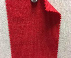 001 -OGE-Red Organic Cotton Lycra 2x1 Rib RED # VER 19