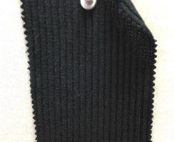 1006-OGE-Blk Organic Cotton Lycra Chunky 2x1 Rib  BLACK