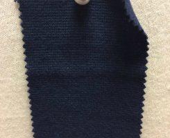 829 T-OGE Organic Cotton Lycra 1x1 Rib NAVY # NBCD 40