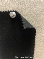 1009 -MOGE Super Heavy 2x1 Rib Modal Organic Combed Cotton Lycra BLACK